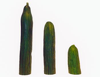 three cucumbers